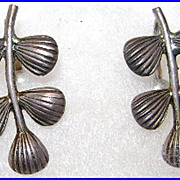Vintage Beau Sterling Silver Earrings Screw Backs
