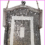 Art Deco Whiting-Davis Armor Mesh Purse Black / Gray