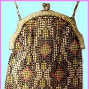 Gorgeous Art Deco Whiting-Davis Armor Mesh Purse 1920's