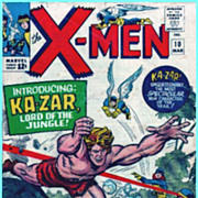 1965 Silver Age X-Men #10 VG Condition 1st Ka-Zar