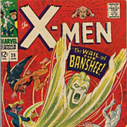 X-Men #28 Comics 1967 1st Appearance of Banshee & Ogre