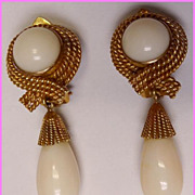Exquisite 14K Angel Skin Earrings