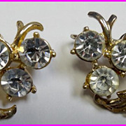 Gorgeous Coro Rhinestone Earrings