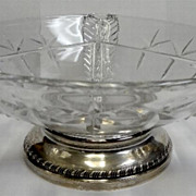 Beautiful Durgin & Hawkes Sterling & Cut Glass Divided Center Bowl
