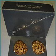 Avon Jose Maria Barrera Venetian Mist Earrings & Brooch / Pendant with Box