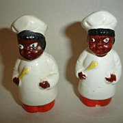 Vintage Salt and Pepper Shakers-Black Memorabilia