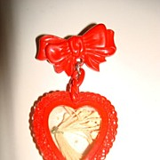 Vintage Valentine Sweetheart Heart Pin