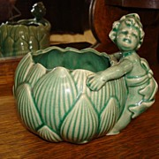 Majolica Planter Made in Japan