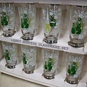 Vintage Libbey Hostess Set of 8 Tall Glasses in box Swanky Swigs