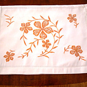 Vintage Society Silk Linen Lingerie Bag