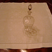 Vintage Art Nouveau style Damask Table Topper