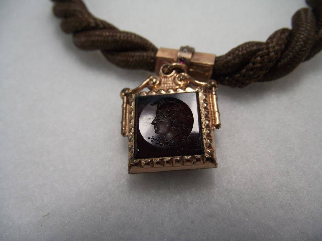 1860s Extraordinary Mid Victorian Watch Chain & Fob, Rolled Rose Gold!