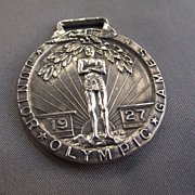 REDUCED Wonderful & Rare Sterling 1927 Junior Olympics Medal!