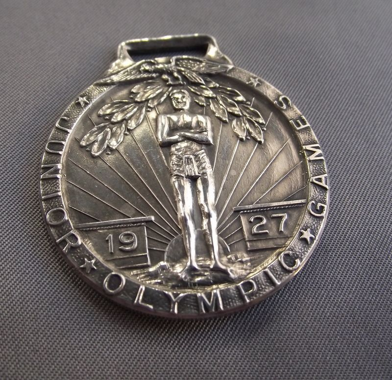 Wonderful & Rare Sterling 1927 Junior Olympics Medal!
