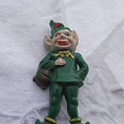 SALE Circa 1930s Leprechaun Pin, Early Plastic Figural!