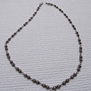 "REDUCED Classic Design Sterling Station Necklace 18"" long!"