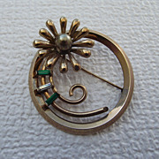SALE Rare &quot;KREISLER Star Quality&quot;1940s Fancy Circle Pin!