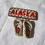 SALE Vintage Travel Pin Handmade In Alaska