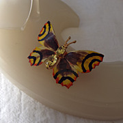 SALE Vintage Butterfly Pin Made In Czechoslovakia