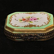 Antique French Porcelain Pill Box