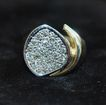 14k Man's Diamond Pave Ring