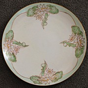 Art Nouveau French  Limoges Water Lillies Porcelain Charger