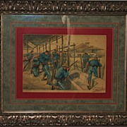 Attack-San Juan Block House Watercolor,1898