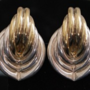 Pair of Large Bergner Sterling Earrings