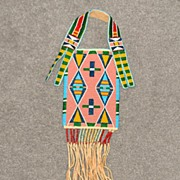Fabulous Crow Indian Double Sided Beaded Bag