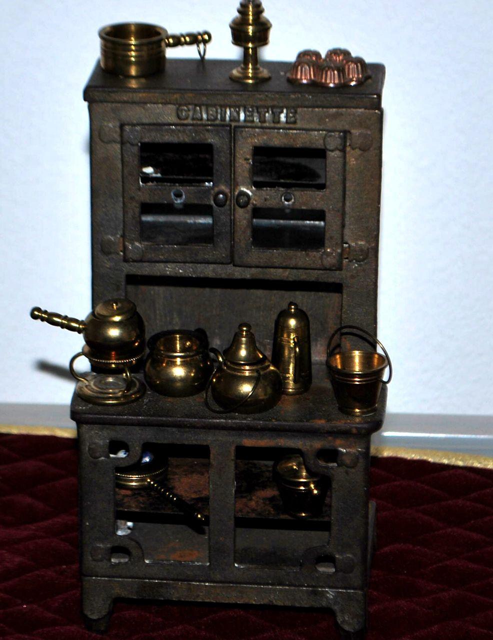 hoosier style miniature metal cabinet 1920 39 s from antiqueworldusa on