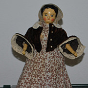 Joel Ellis Wooden Doll - Circa 1870's