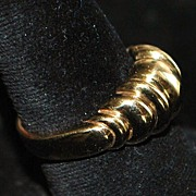 14K Man's Knuckle Style Gold Ring