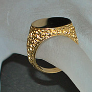 14K Man's Gold Signet Ring