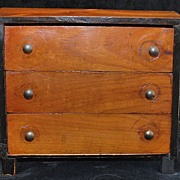 Miniature Biedermeier 3 Drawer Chest, c. 1830