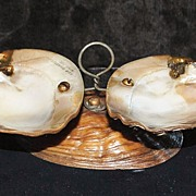 Early Victorian Atlantic City Shell Condiment, c. 1870