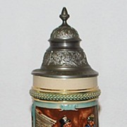 Simon Peter Gerz 1/2L Covered Stein, c. 1900