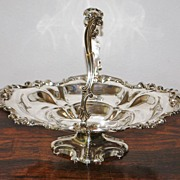 English Elkington Silver Basket, c. 1852