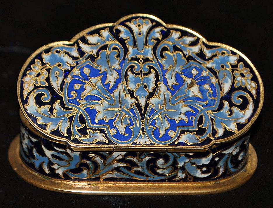 French Napoleon III Enamel Table Snuff Box