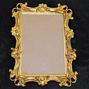 Art Nouveau Gold Brass Frame, c. 1900
