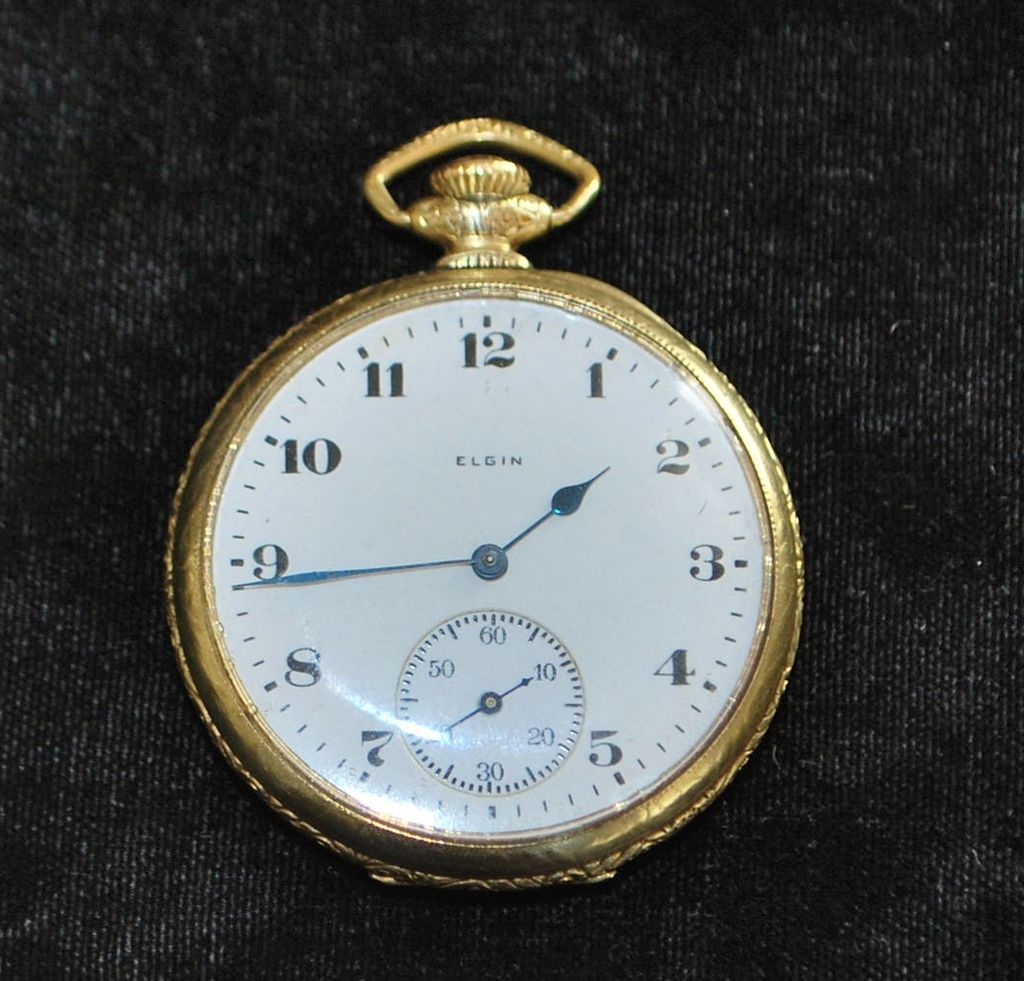 14k gf elgin of pocket 1921 from antiqueworldusa on