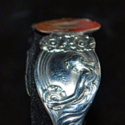 Art  Nouveau Unger Bros. Sterling Silver Bangle, c. 1900