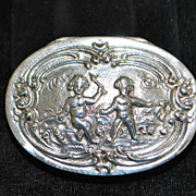 German 800 Silver Snuff Box, c. 1900