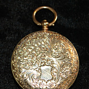 Swiss 14K Gold OF Pocket Watch, c. 1885