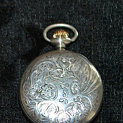 American Waltham Lady's Sterling Lapel Watch,c.1903