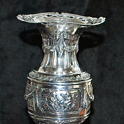 German 800 Silver Fancy Flower Vase, c. 1895