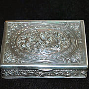 German 830 Silver Snuff Box, c. 1890