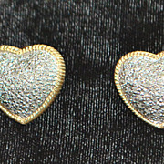 Pair of 14K Diamond Micro Pave Heart Earrings