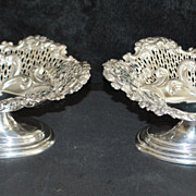 Pair of English Victorian Sterling Silver Tazzas, 1893