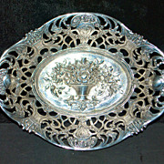 German Fancy 800 Silver Bon Bon Dish, c. 1900