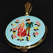 Swiss Enamel 17J Racine Pendant Watch, 1950's